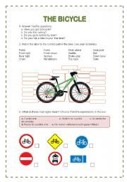 English worksheet: THE BICYCLE | Bicycle, Bicycle safety ...