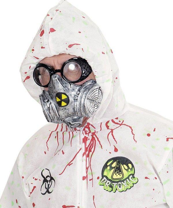 maschera gas bocca