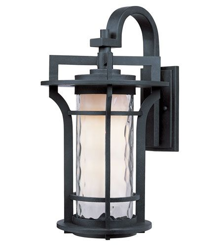 Awesome Maxim 30484WGBO Oakville 1 Light 14 Inch Black Oxide Outdoor Wall Mount