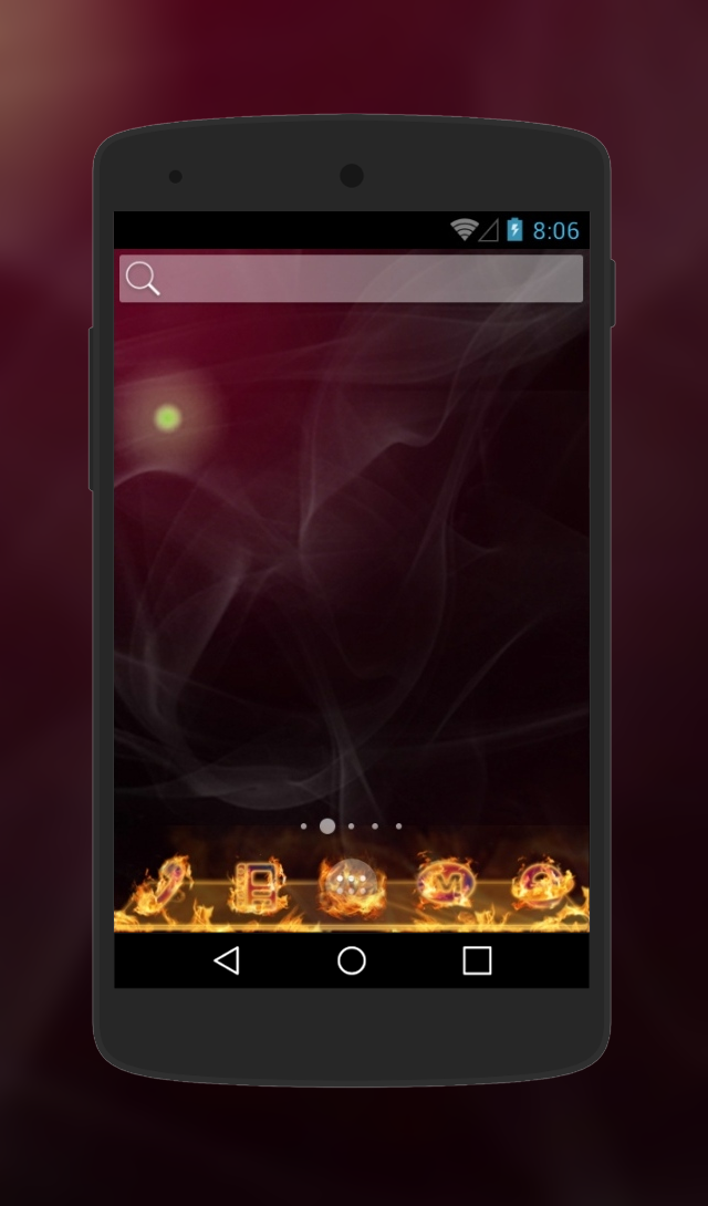 Fire theme for Android Phone  http://androidlooks.com/theme/t1439-fire/  #Fire, #android, #androidthemes, #customization, #soloLauncher