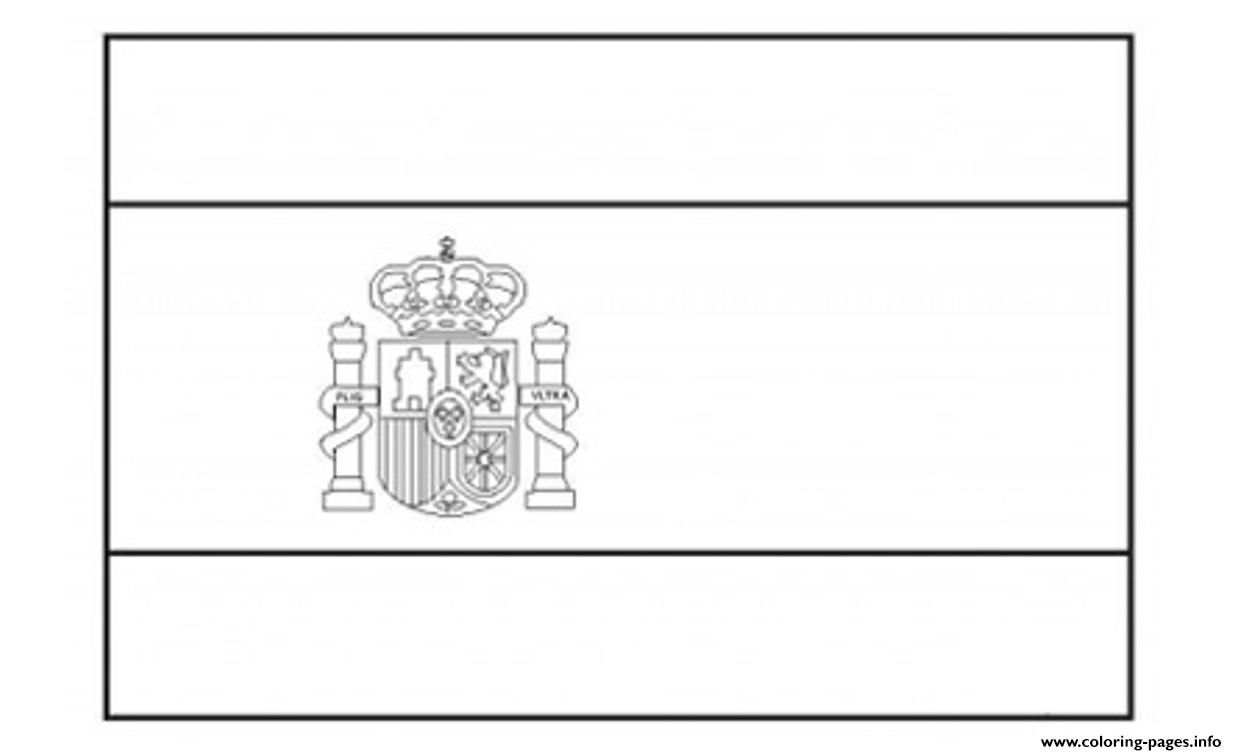 Print Spain Flag Coloring Pages Flag Coloring Pages Spain Flag