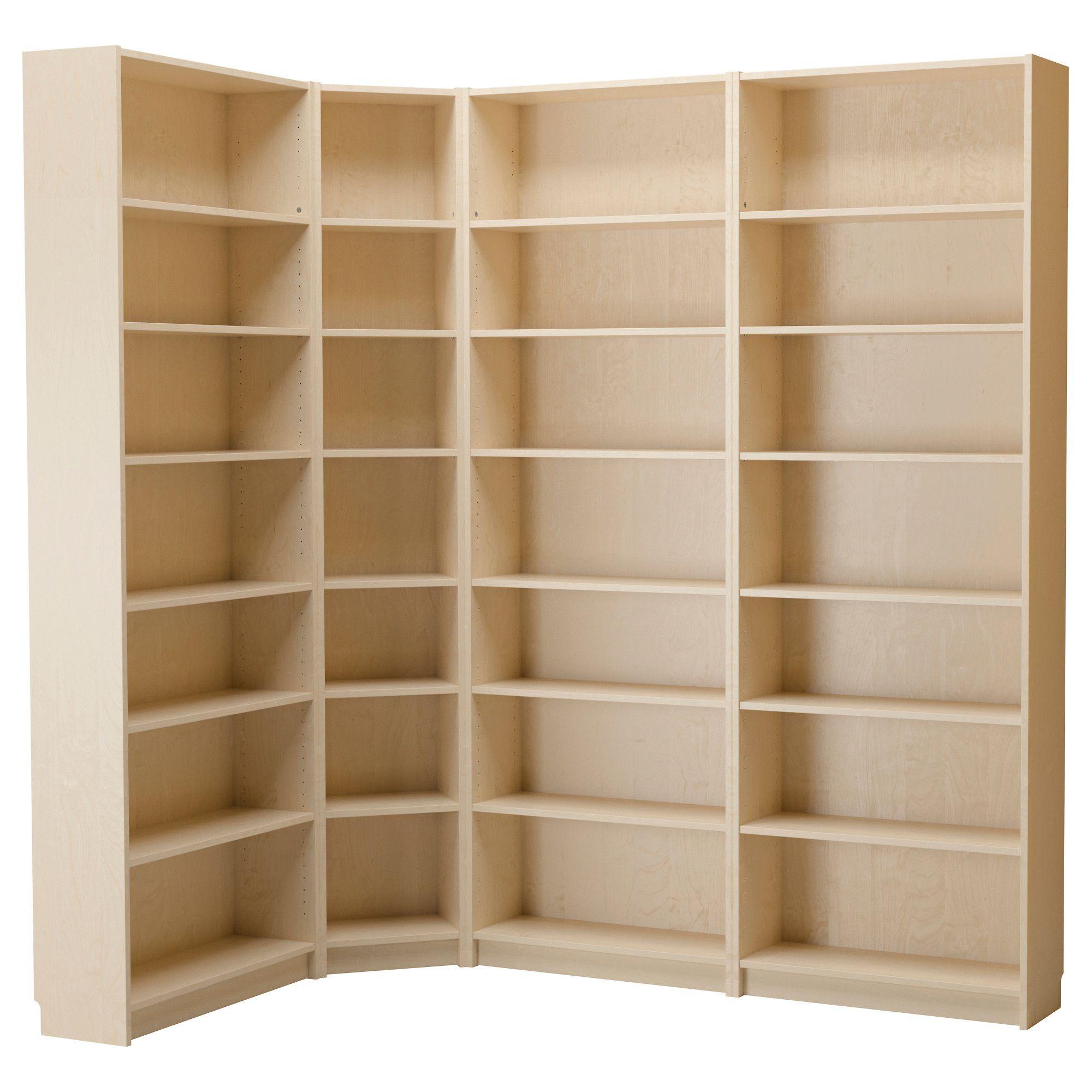 Billy Bookcase Birch Veneer Ikea Billy Birch And Narrow Shelves # Muebles Billy Ikea