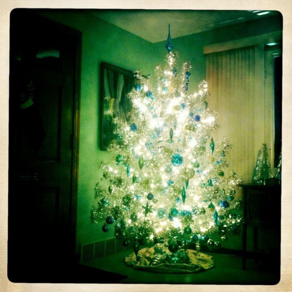 My vintage aluminum Christmas tree