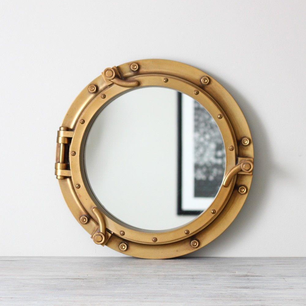 Ship port hole mirror | Beachy | Pinterest | Porthole mirror, Ships ...