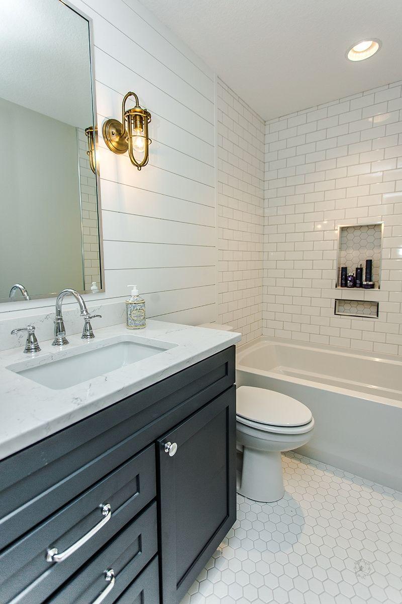 White tiled bathroom | Oakstone Homes Houses | Pinterest | White ...