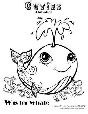 Creative Cuties Whale Coloring Pages Animal Coloring Pages Cute Coloring Pages