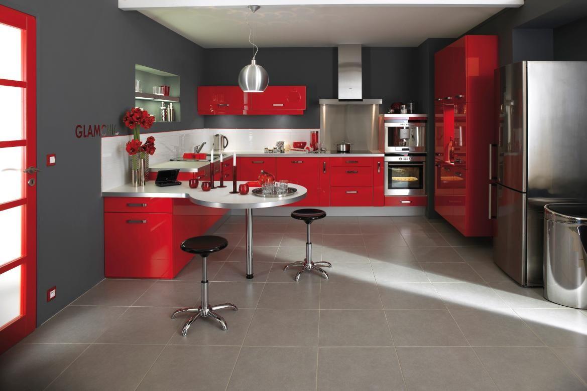 Épinglé par marie-anne nanou sur cuisine rouge et grise en ...
