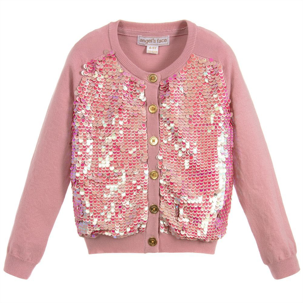 ce7f371a22ec Pink Wool SPARKLER Sweater for Girl by Wild   Gorgeous. Discover ...
