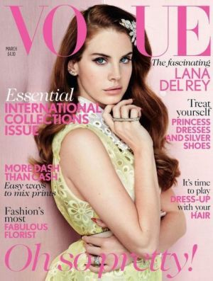 8a63b403597ca Lana Del Ray - Vogue UK March 2012 this is the best present my dad ever  brought home for me on his travels. Vogue magazine covers ...