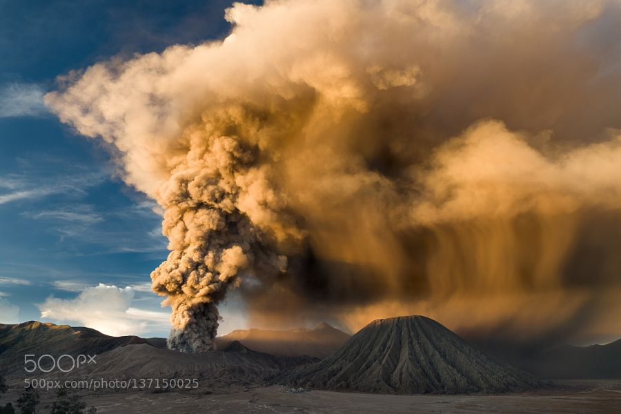 Mt. Bromo Erupted by widjanar_sg. Please Like http://fb.me/go4photos and Follow @go4fotos Thank You. :-)