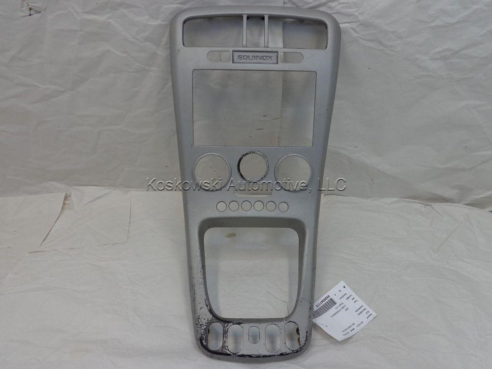 Chevy Equinox Center Dash Bezel Instrument Panel Trim 15808140 Gray 05 06 Chevy Equinox Chevy Equinox