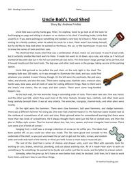 Uncle Bob's Tool Shed Fourth Grade Reading Comprehension Worksheet ...