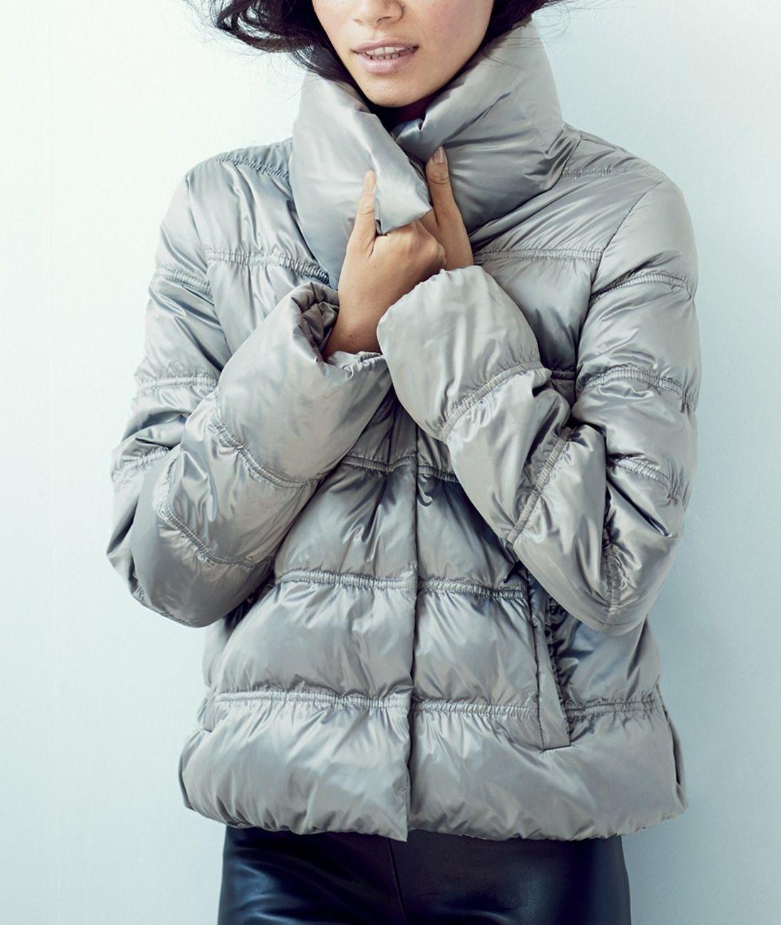 Eileen Fisher Funnel Neck Ruched Down Jacket Regular Petite Nordstrom Jackets Down Jacket Jacket Style [ 1303 x 1100 Pixel ]