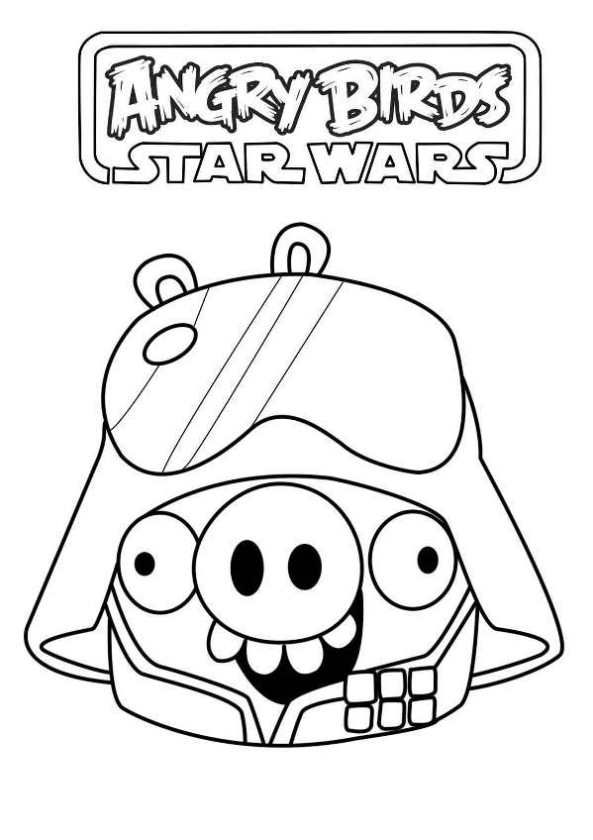 coloring page Angry Birds Star Wars star wars pig Fun with