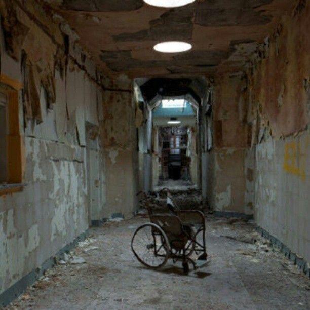 Awesome Medical Hall. #hauntedhouse #halloween #abandoned