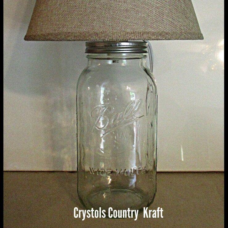 Fillable Lamp Farm House Mason Jar Clear Lamp With Burlap Lamp Shade Electric Table Lamp Rustic Mason Jar Lamp Fill Up The Lamp Base Wi Mason Jar Lamp Lamp