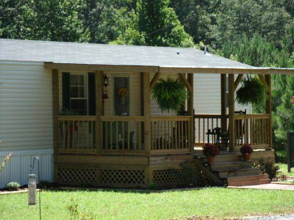 45 great manufactured home porch designs single wide and for Single wide mobile homes with front porches