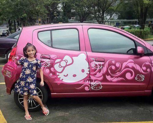 Hello Kitty Car Via Tumblr