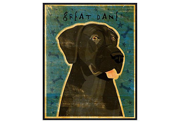 Do A Cockapoo Version Black Great Dane Art Block On Onekingslane