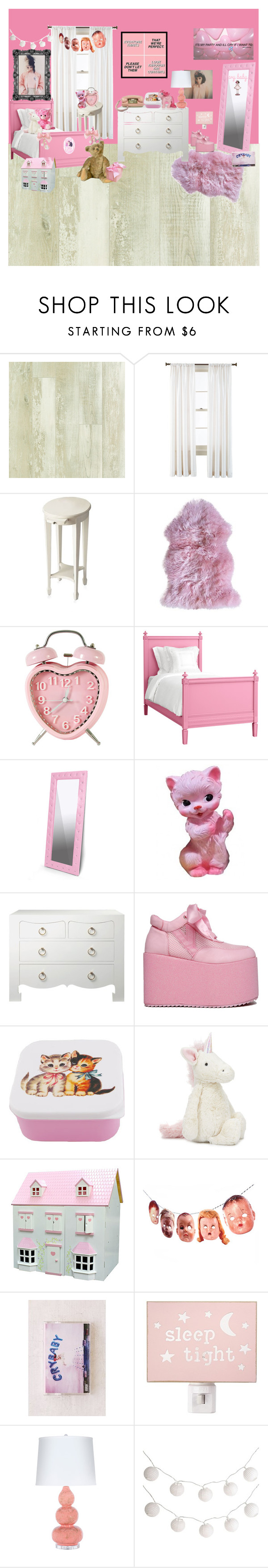 """""""Melanie Fan Room"""" by adventuretimekitty ❤ liked on Polyvore featuring interior, interiors, interior design, home, home decor, interior decorating, Royal Velvet, Butler Specialty Company, Redford House and Baxton Studio"""