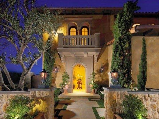 Fachadas de casas diferentes estilos casa estilo - Casas de estilo italiano ...