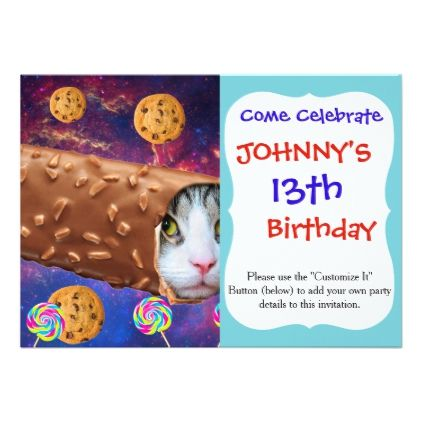 Cat ice cream cats in space funny cats card cat ice cream cats in space funny cats card birthday cards invitations party bookmarktalkfo Gallery