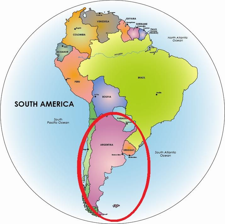 Map of south america highlighting argentina yahoo image search map of south america highlighting argentina yahoo image search results gumiabroncs Gallery