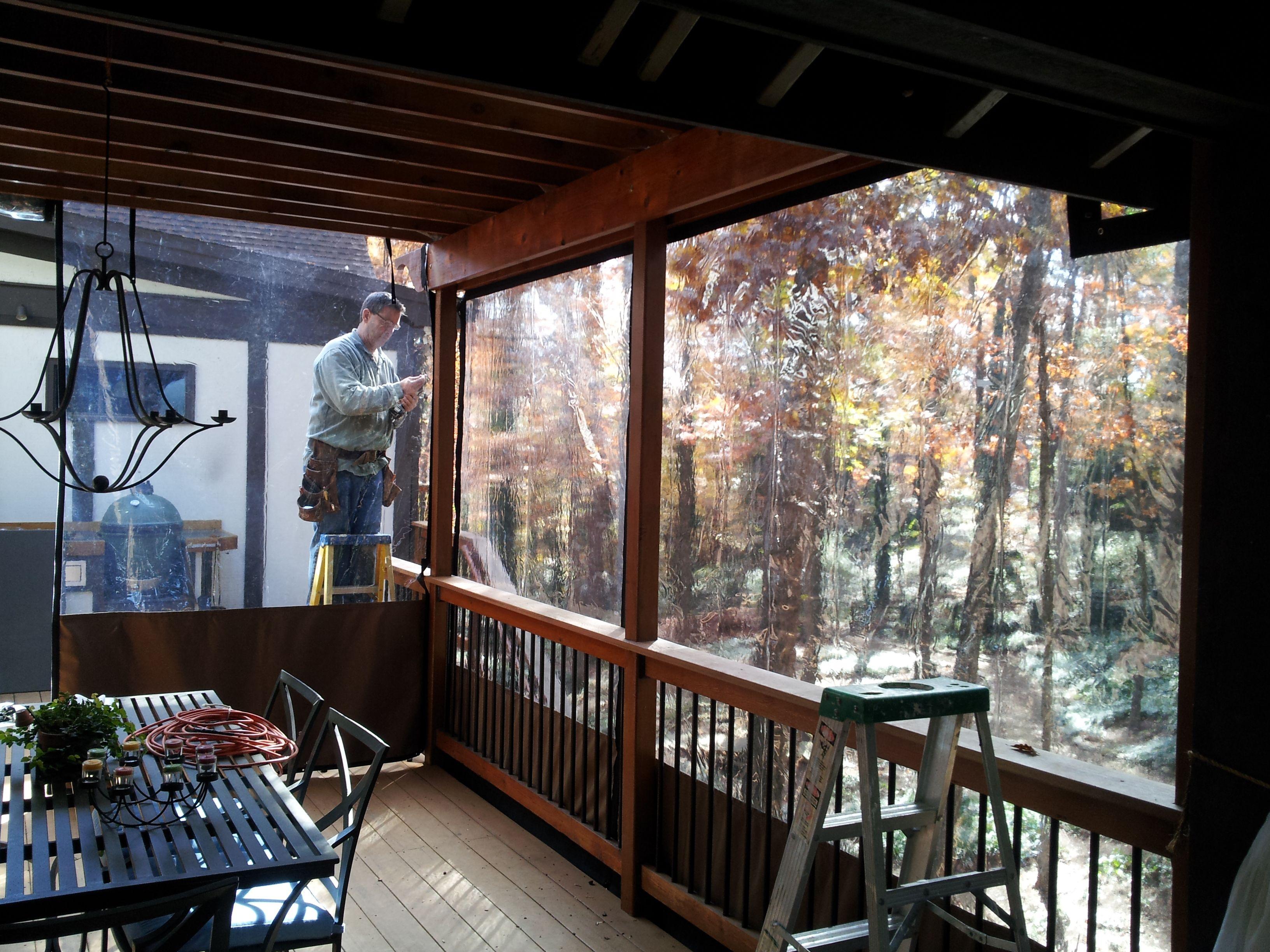 Clear Vinyl Plastic Porch & Patio Enclosures | Lake house exterior ...