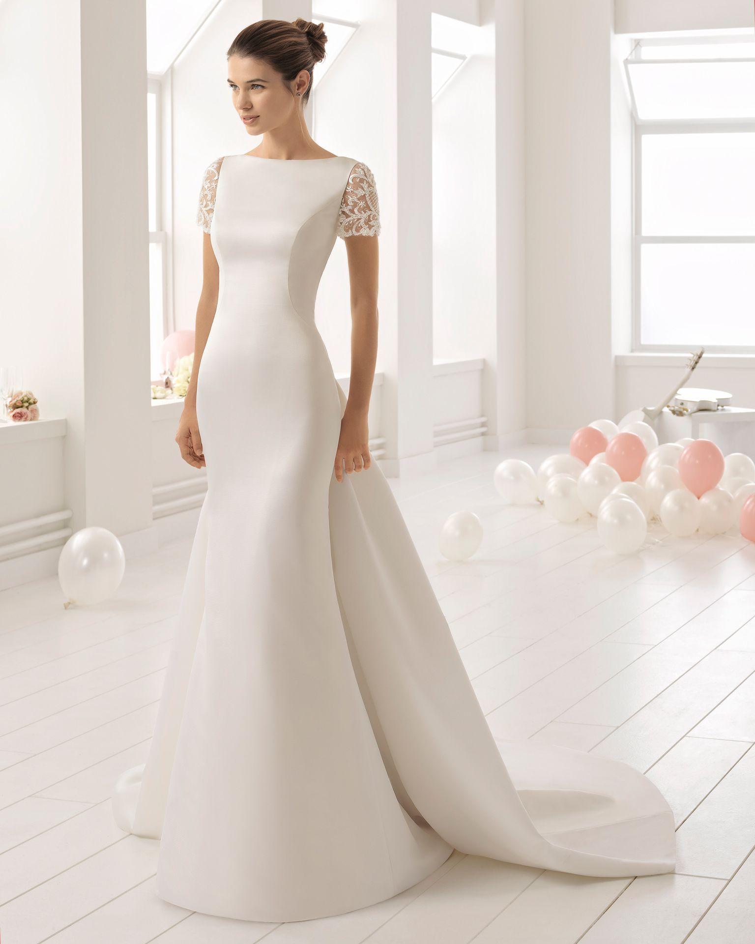Vestidos de novia largos pegados