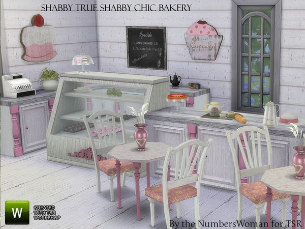 shabby chic true shabby bakery by thenumberswoman at tsr via sims 4 updates sims 4 pinterest. Black Bedroom Furniture Sets. Home Design Ideas