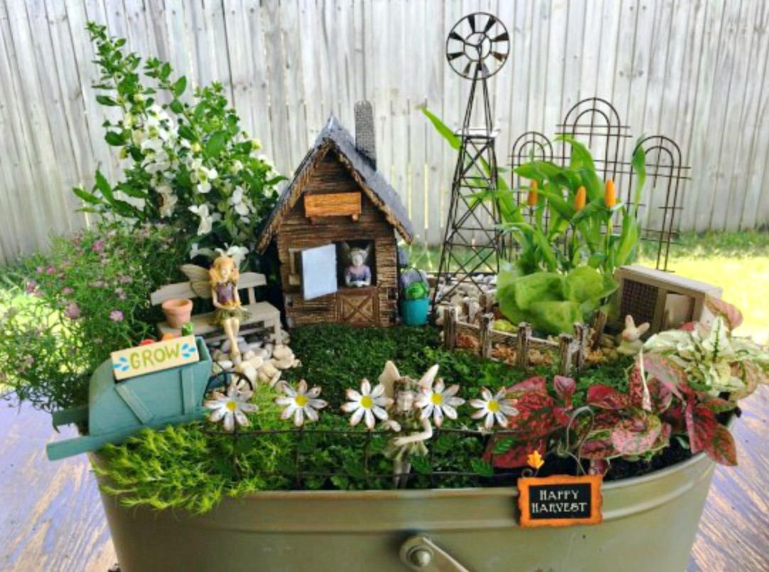 Uncategorized Create Fairy fairy gardens diy ideas lots of inspiration wheelbarrow garden inspiration