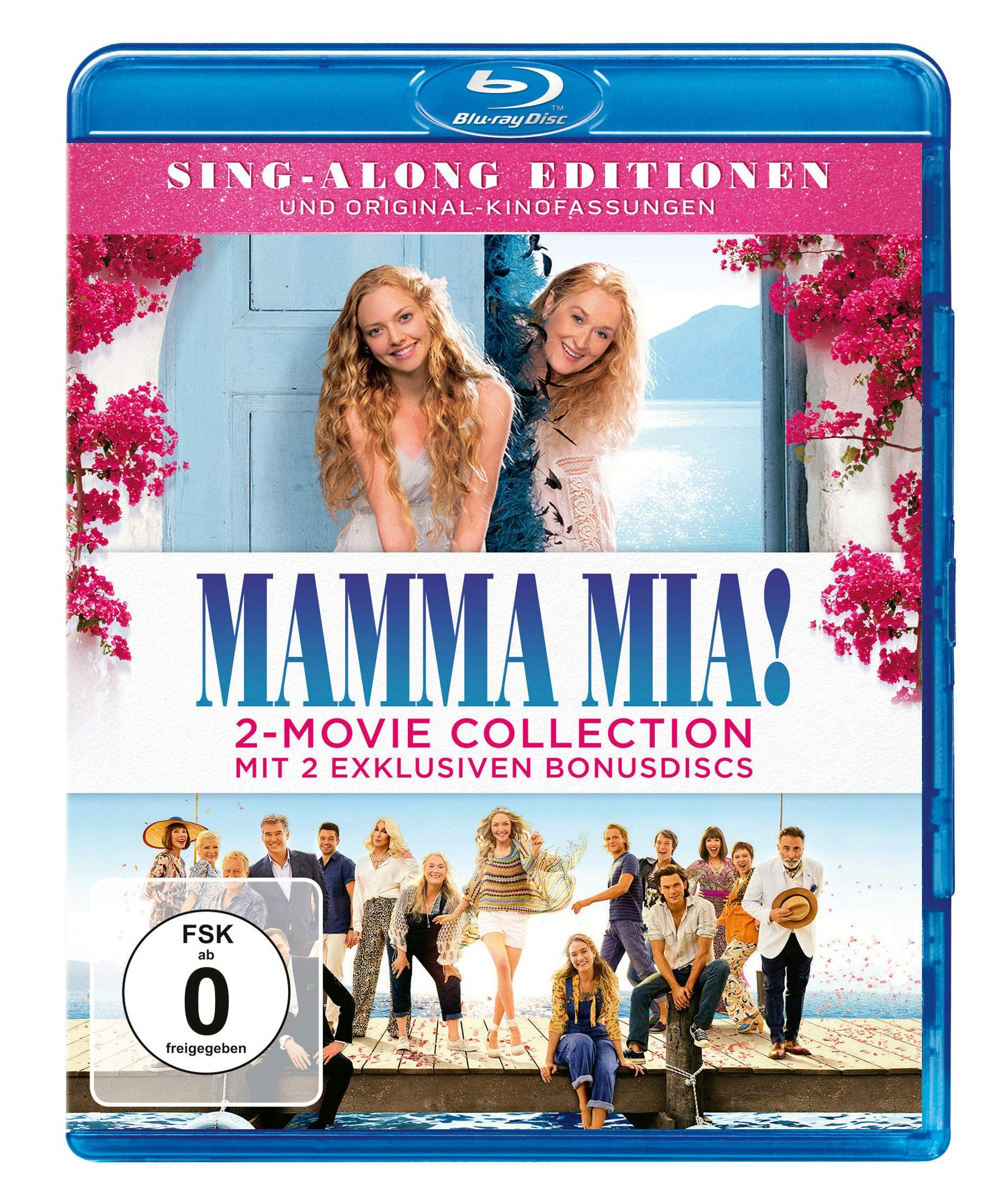 Mamma Mia Mamma Mia Here We Go Again 2 Bonus Discs Mia Mamma Discs Bonus Mamma Mia Movie Collection 2 Movie