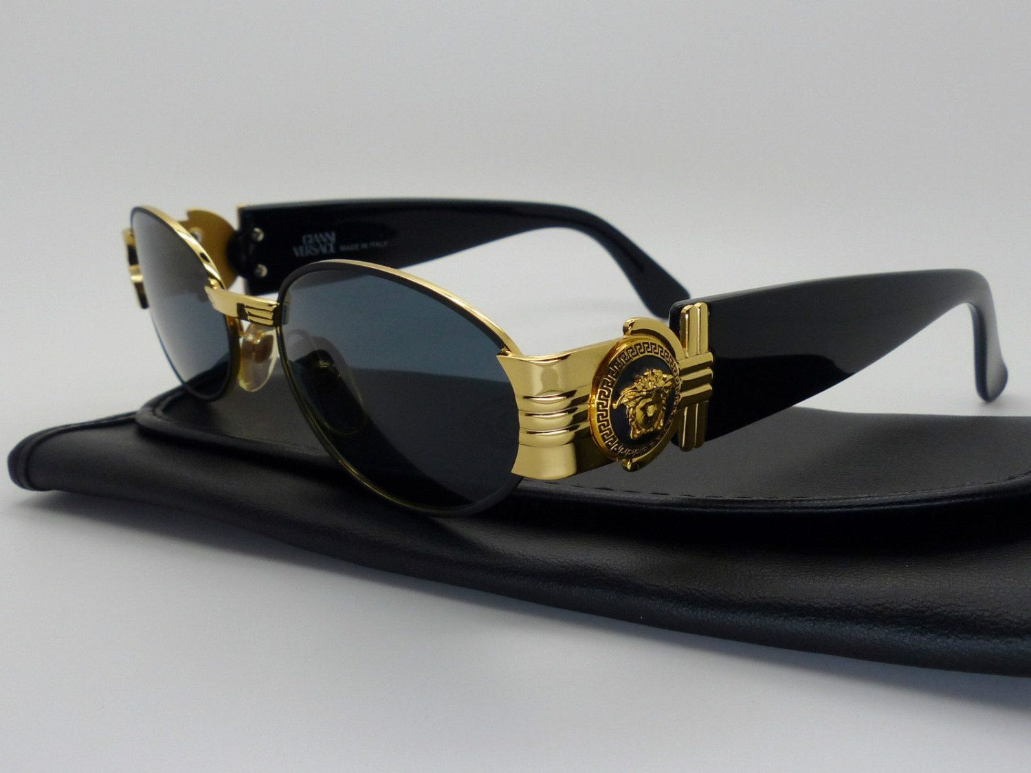 8fd69bb304ff Genuine Rare Vintage Gianni Versace Medusa Sunglasses Mod S72 Col 09M  NOS   by VSOx on Etsy