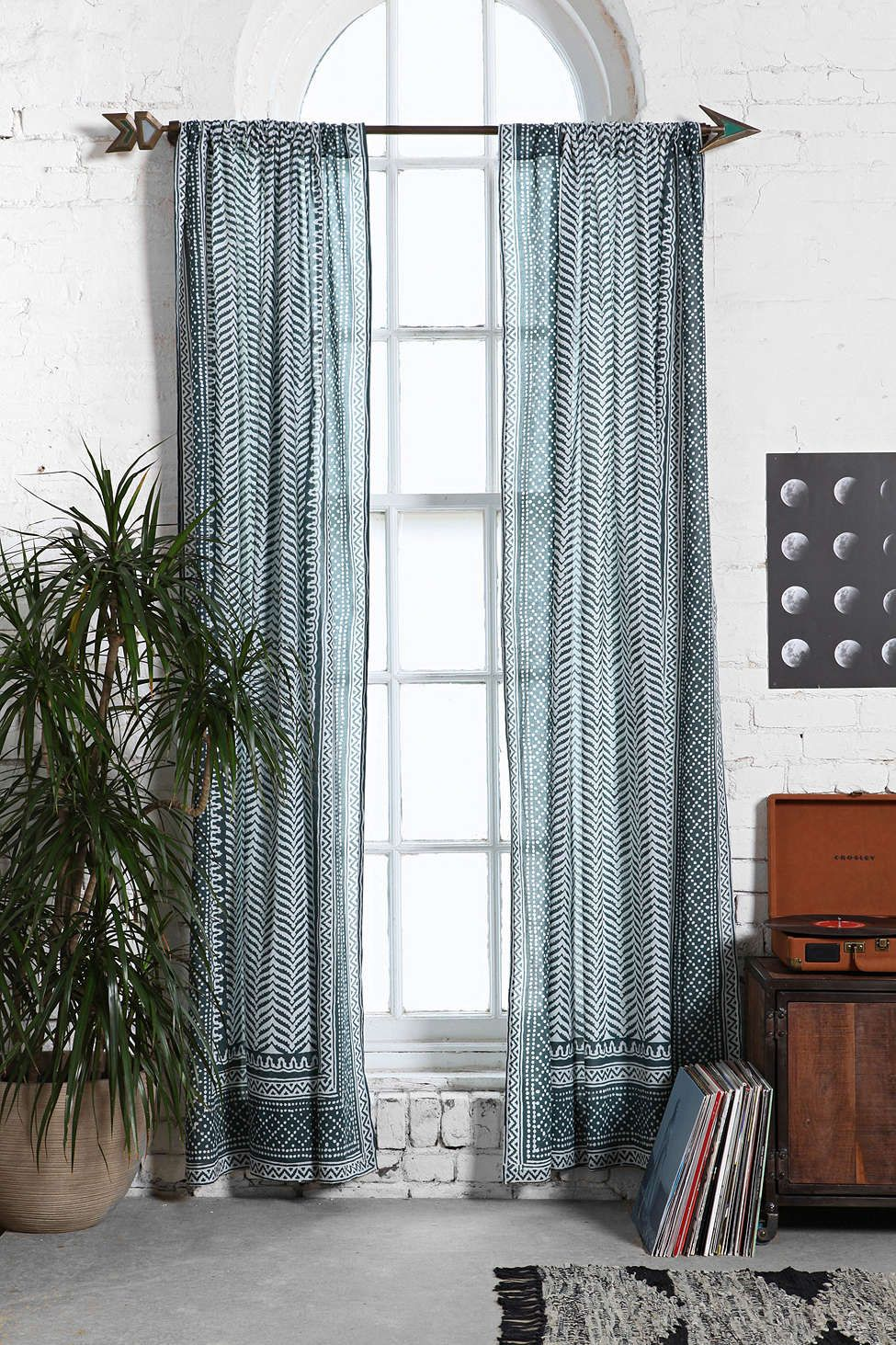 Magical Thinking Scallop Scale Curtain Curtains Living Room