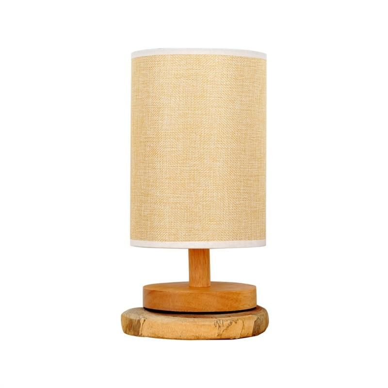 Led Table Light Wood Desk Lamp Retro Dimmable Bedside Lamp With