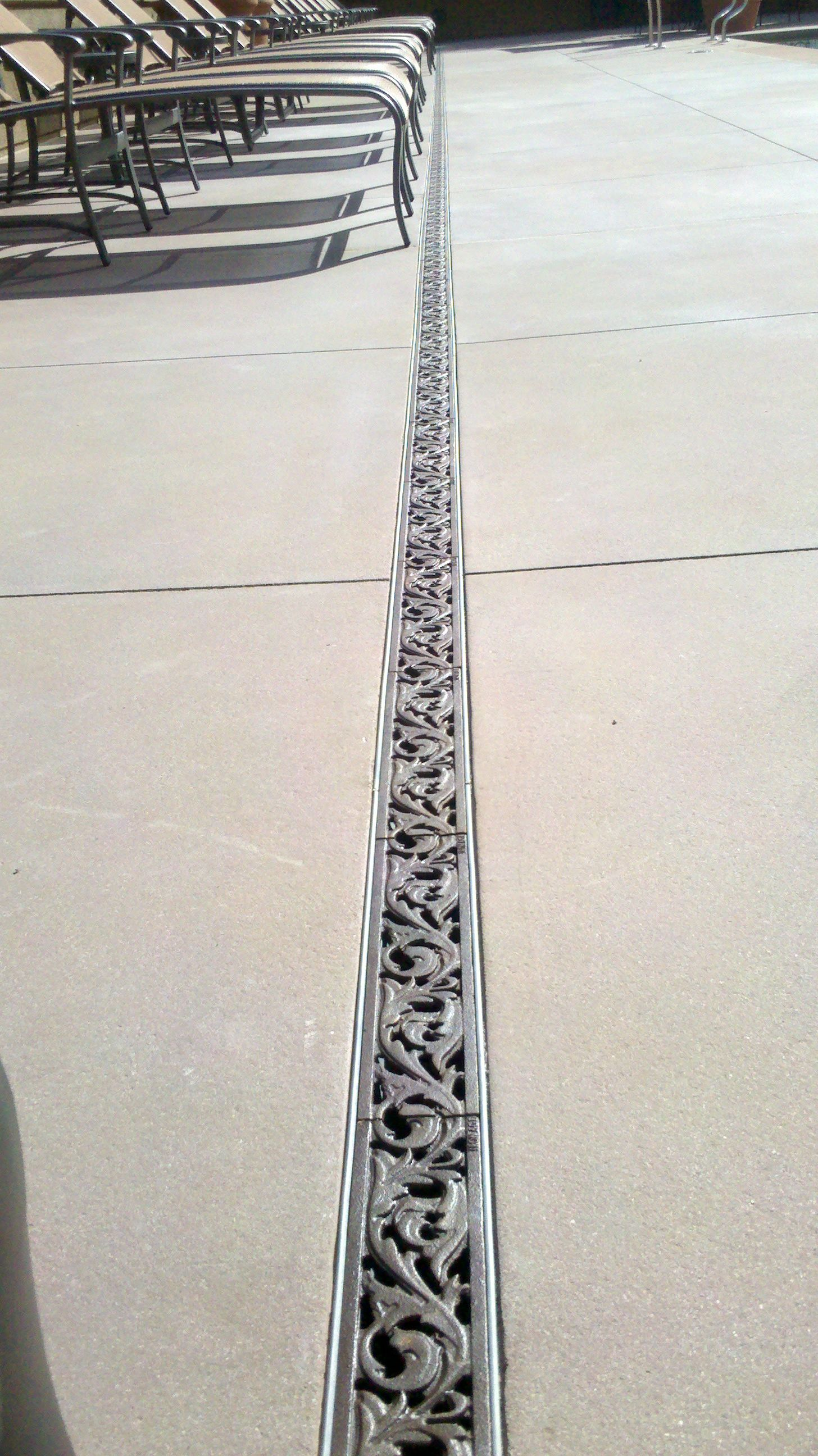 """3"""" Acanthus drain grates Iron Age Pool Landscaping"""