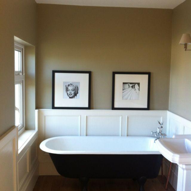 Farrow and ball light gray on wall wainscoting farrow and - Flat or satin paint for bathroom ...