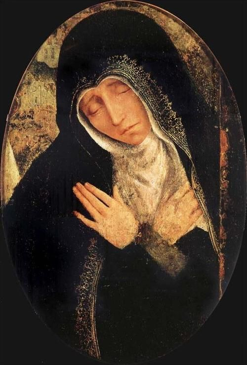 The sad Virgin by Quentin Matsys-1466–1529    Stabat Mater