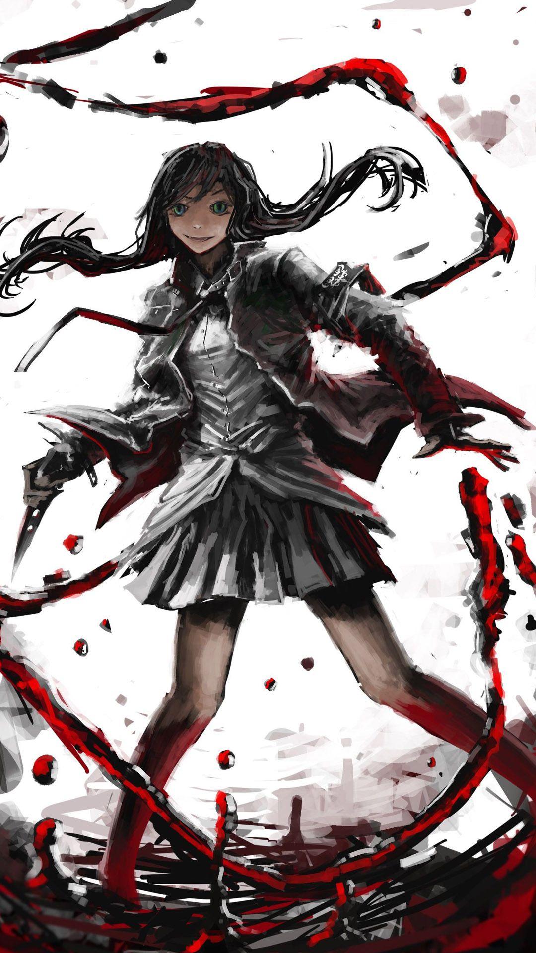 Killer Girl Anime Mobile Wallpaper X