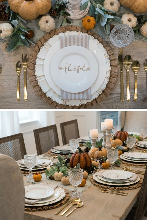 Dining Room Reveal & Thanksgiving Tablescape - Hello Gorgeous, by Angela Lanter