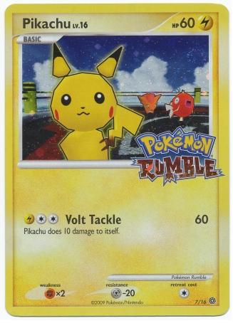 Pikachu 7/16 Pokemon TCG: Rumble, Holo Pokemon Card #pokemon #pokemontcg #pokemoncards
