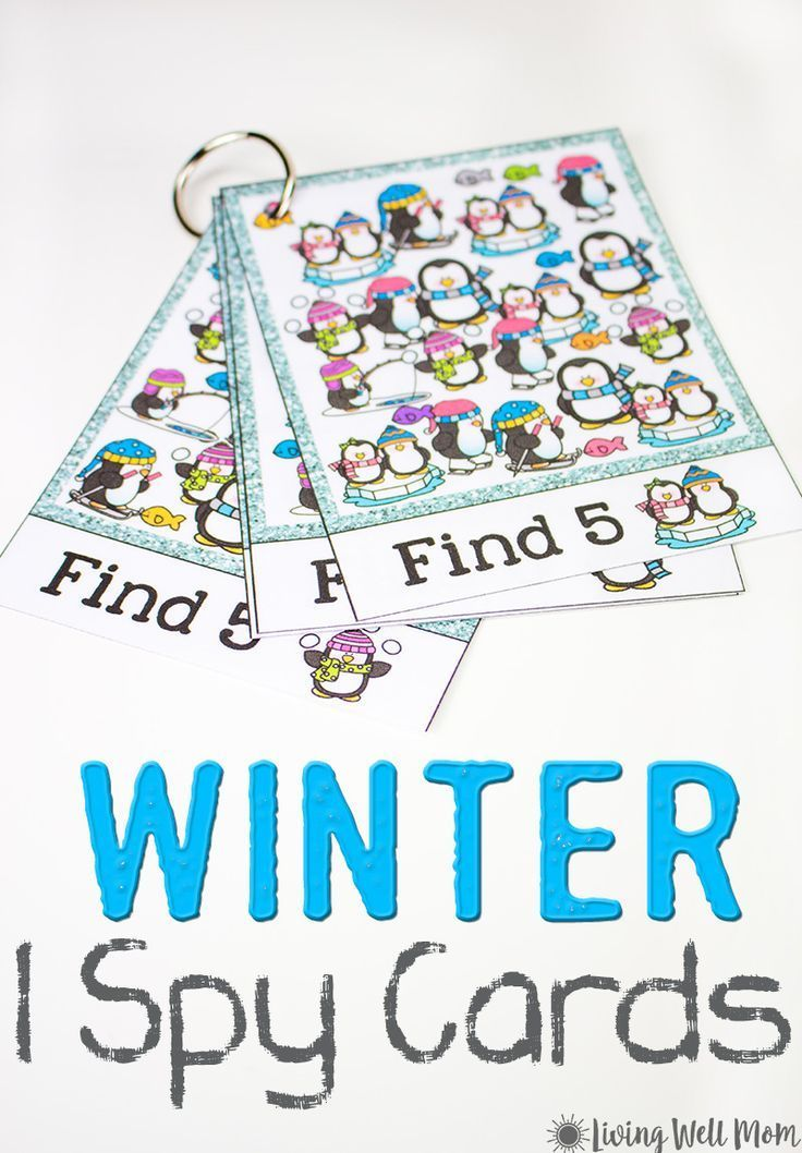 Winter I Spy For Kids {Free Printable} (With images ...