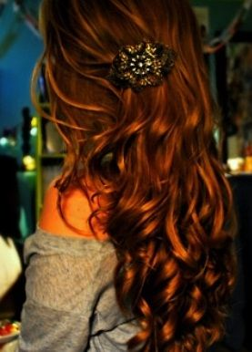 Cool Curly Brunette Homecoming Hairstyle