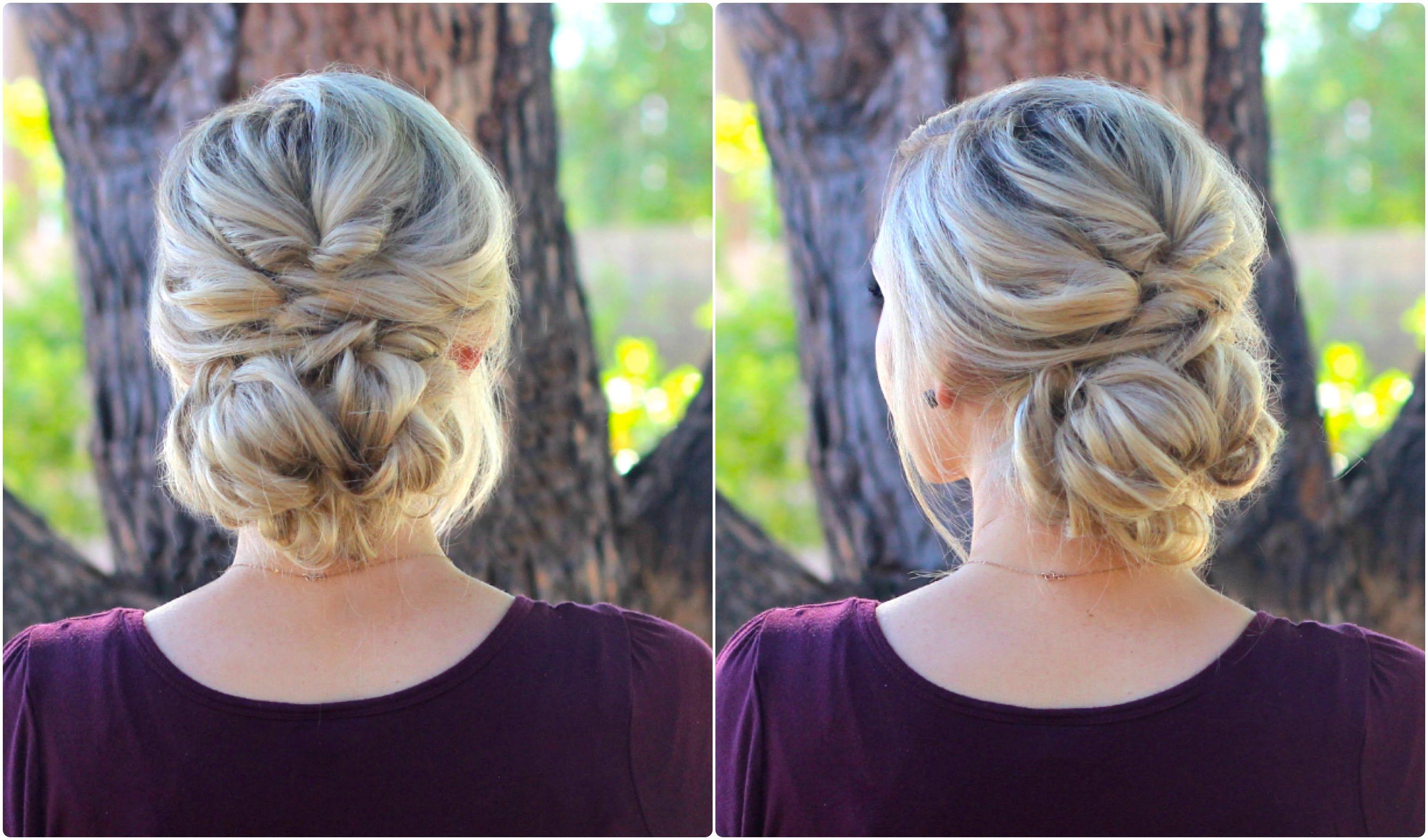Topsy Tail Bun Updo Cute Girls Hairstyles Cute Girls - Hairstyle bun videos