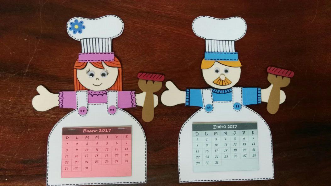 Imán calendario para el refrigerador, cocinero y cocinera   Mis ...