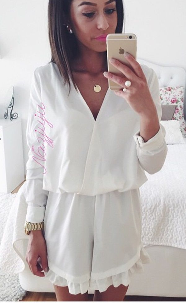 Strike a Pose // A sweet look by @nazjuju in those glamour white playsuit. #LBSDaily