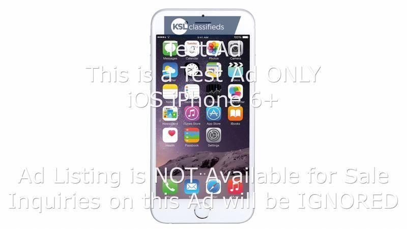 Test Ad Ios Iphone 6 2 5 18 Ios Ksl Classifieds General
