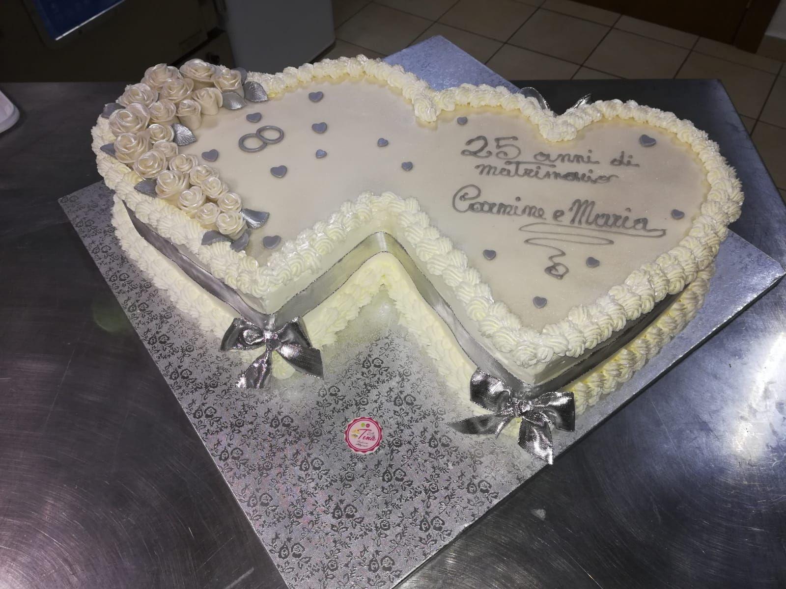 Torta 25 Anni Matrimonio 25 Anniversario Di Matrimonio Anniversario Di Matrimonio Buffet Di Dolci