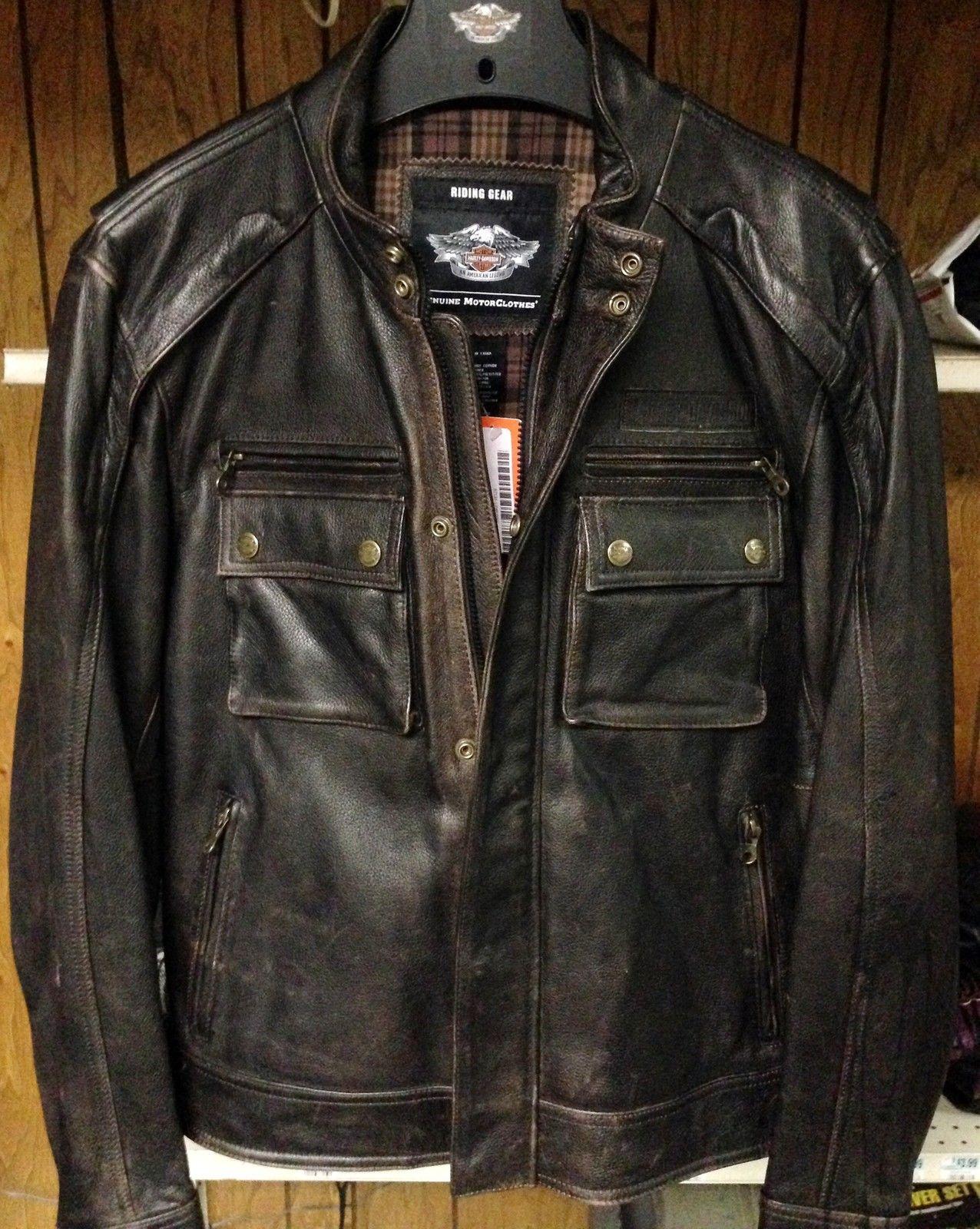 Harley Davidson Men S Alliance Dark Brown Leather Jacket 97131 13vm Xxlarge [ 1600 x 1276 Pixel ]