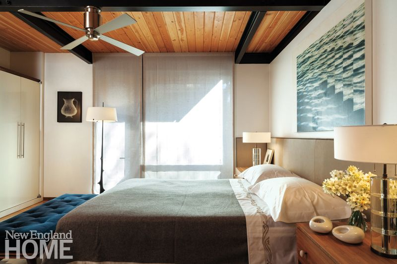 Contemporary Boston South End Townhouse Master Bedroom Modern